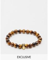 braunes Perlen Armband von Reclaimed Vintage