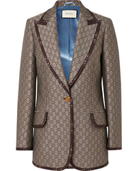 braunes Wollsakko von Gucci