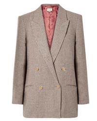 braunes Zweireiher-Sakko mit Schottenmuster von Gucci