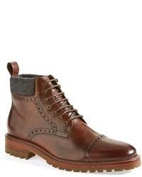 Brogue Stiefel aus Leder