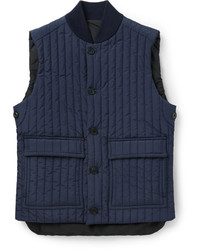 dunkelblaue ärmellose Jacke von Canali