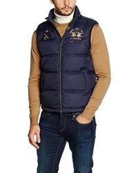 dunkelblaue ärmellose Jacke von La Martina