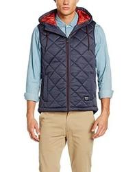 dunkelblaue ärmellose Jacke von Tom Tailor Denim