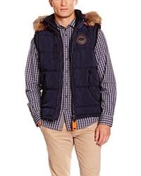 dunkelblaue ärmellose Jacke von Tom Tailor