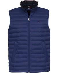dunkelblaue ärmellose Jacke von Tommy Hilfiger