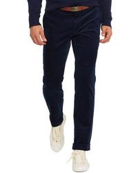 dunkelblaue Anzughose aus Cord