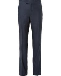 dunkelblaue Anzughose aus Seide von Kilgour