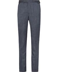 dunkelblaue Anzughose aus Seide von Richard James