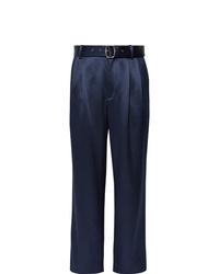 dunkelblaue Anzughose aus Seide von Sies Marjan