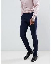 dunkelblaue Anzughose von ASOS DESIGN