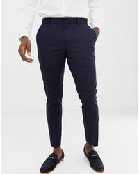 dunkelblaue Anzughose von Burton Menswear
