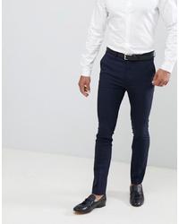 dunkelblaue Anzughose von New Look