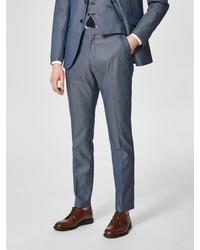 dunkelblaue Anzughose von Selected Homme