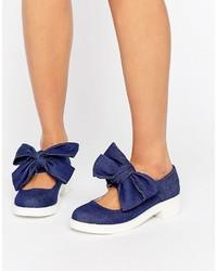 dunkelblaue Ballerinas von Asos