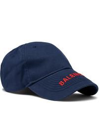 dunkelblaue Baseballkappe von Balenciaga