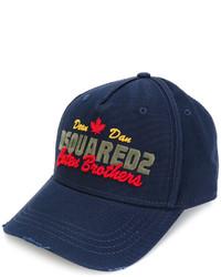 dunkelblaue Baseballkappe von DSQUARED2