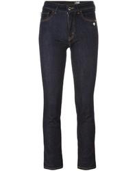 dunkelblaue enge Jeans aus Baumwolle von Love Moschino