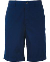 dunkelblaue Baumwollshorts von Ermenegildo Zegna