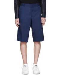 dunkelblaue Baumwollshorts von Givenchy
