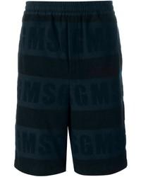 dunkelblaue Baumwollshorts von MSGM