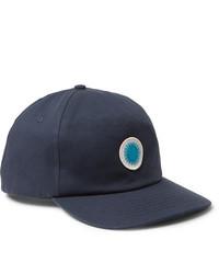 dunkelblaue bedruckte Baseballkappe von Mollusk