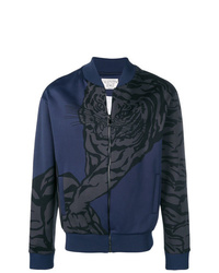 dunkelblaue bedruckte Bomberjacke von Valentino