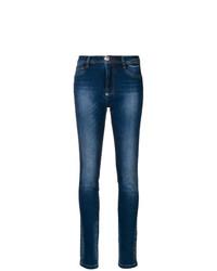 dunkelblaue bedruckte enge Jeans von Philipp Plein