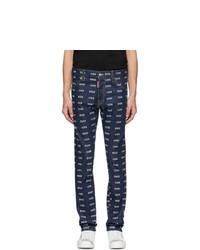 dunkelblaue bedruckte Jeans von DSQUARED2