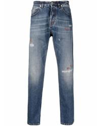 dunkelblaue bedruckte Jeans von Eleventy