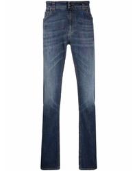 dunkelblaue bedruckte Jeans von Etro