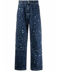 dunkelblaue bedruckte Jeans von McQ