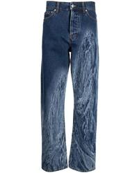 dunkelblaue bedruckte Jeans von MSGM