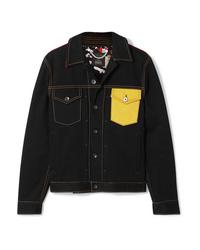 dunkelblaue bedruckte Jeansjacke von Rag & Bone