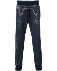 dunkelblaue bedruckte Jogginghose von Dolce & Gabbana