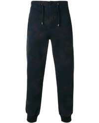 dunkelblaue bedruckte Jogginghose von Etro