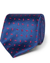 dunkelblaue bedruckte Krawatte von Charvet