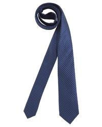 dunkelblaue bedruckte Krawatte von CLASS INTERNATIONAL