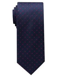 dunkelblaue bedruckte Krawatte von Eterna