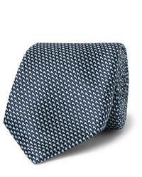 dunkelblaue bedruckte Krawatte von Hugo Boss