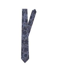 dunkelblaue bedruckte Krawatte von Jacques Britt