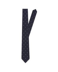 dunkelblaue bedruckte Krawatte von Seidensticker