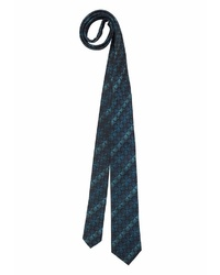 dunkelblaue bedruckte Krawatte von STUDIO COLETTI