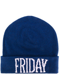 dunkelblaue bedruckte Mütze von Alberta Ferretti