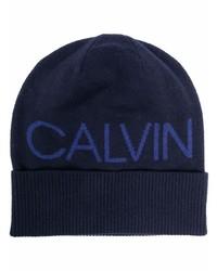 dunkelblaue bedruckte Mütze von Calvin Klein Jeans