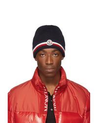 dunkelblaue bedruckte Mütze von Moncler