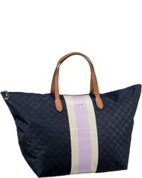 dunkelblaue bedruckte Segeltuch Reisetasche von Joop!