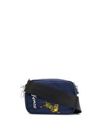 dunkelblaue bedruckte Segeltuch Umhängetasche von Kenzo