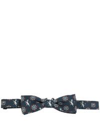 dunkelblaue bedruckte Seidefliege von Dolce & Gabbana