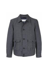 dunkelblaue bedruckte Shirtjacke von Gieves & Hawkes