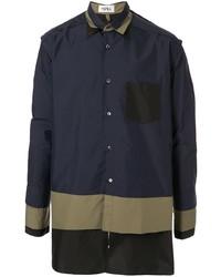 dunkelblaue bedruckte Shirtjacke von Kidill